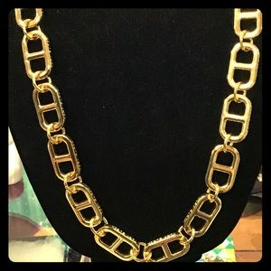 Tory Burch Gold Tone Long Necklace. New Condition